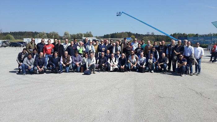 Il gruppo italiano di ricostruttori presenti all'edizione 2017 dei crash-test DSD.